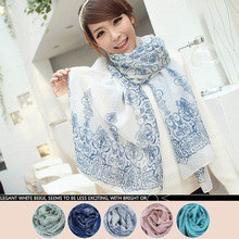 2015 Fashion Women's Fashion Long Soft Handfeel Wrap Lady Shawl Velvet Chiffon Scarf bufandas  4 Colors(China (Mainland))