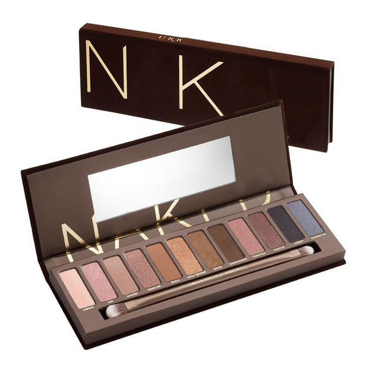 2015 New Professional Makeup NK 1 2 3 4 5 Basic Cosmetics Tools 12 Colors Eye Shadow Palette Eyeshadow Make Up Nake Palettes(China (Mainland))