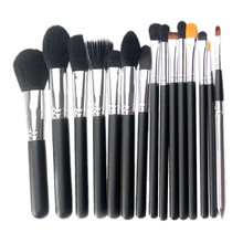 Buy 15 Pcs High Women's Fashion Synthetic Hair Soft Beauty Makeup Brush Cosmetic Wood handle black Brush tool kits for $7.78 in AliExpress store