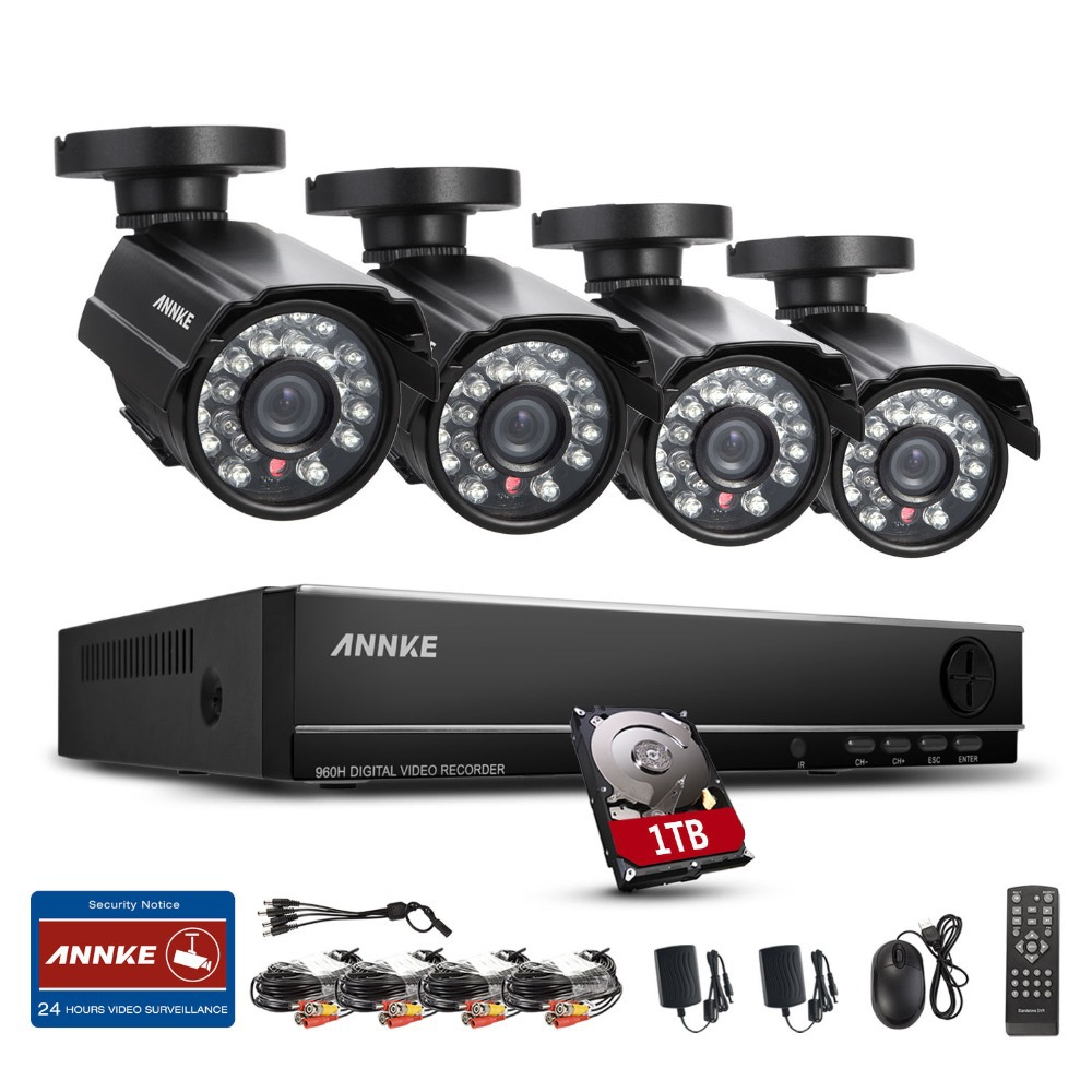 ANNKE 8CH 960H HDMI DVR 800TVL Outdoor CCTV Home Security ...