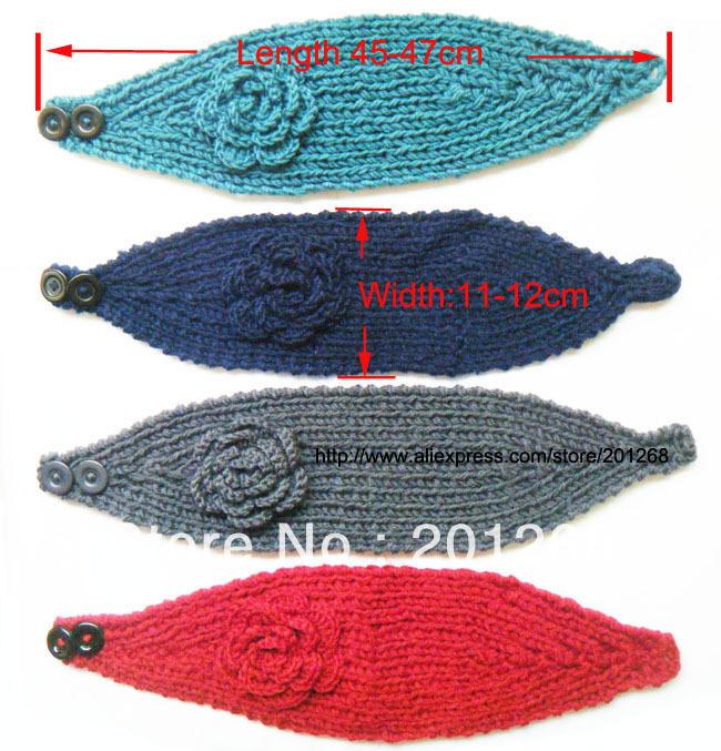Crochet Headwrap Head wrap women Headbands headwear flower headbands Mixed color Free shipping