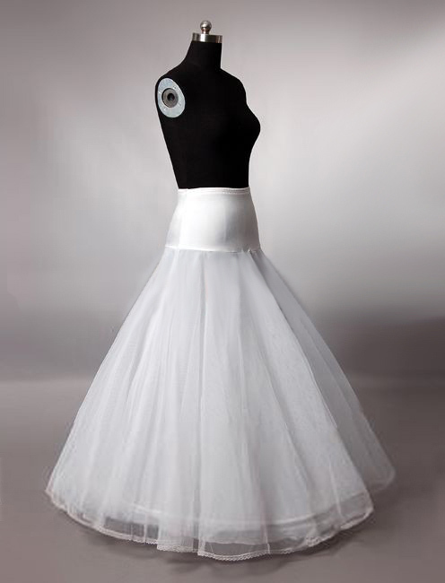 Hot Sale A Line Petticoats for Wedding Dress Bridal Tulle Under Skirt Hoop Online One Size(China (Mainland))