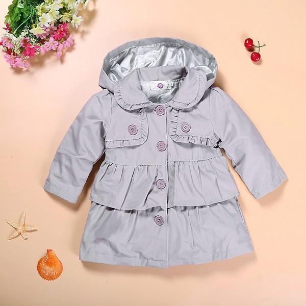 2017 Новый девочка теплая осень куртки Малышей Дети Девочка Принцесса длинные капюшоном пальто детей одевает пальто оптовая