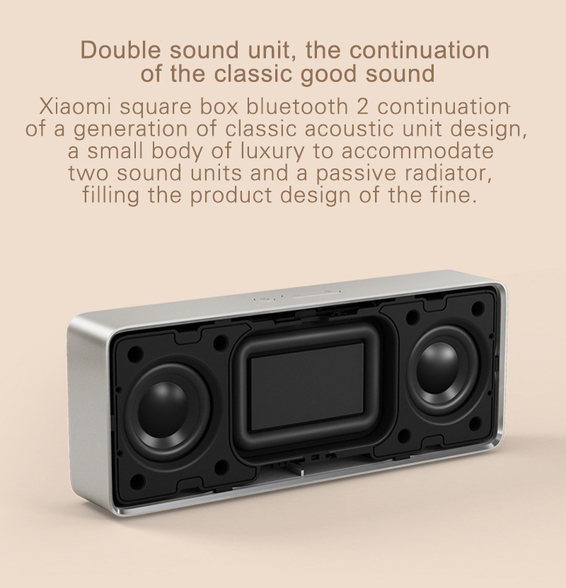 Original Xiaomi Bluetooth Speaker 2 Square Box Portable  Mini  Stereo Bass Speaker bluetooth V4.2 for iPhone for Android phone  (2)