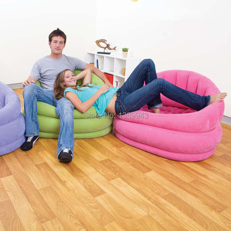 Free express intex inflatable sofa three colors high for Quality garden furniture