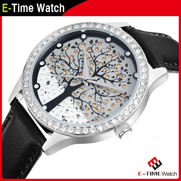 Гаджет  Skone Brand Fashion Leather Strap Watch Tree Dial Casual Quartz Watches Female Dress Wristwatch QZ4056 None Часы