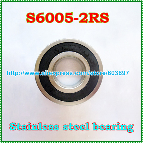 quality stainless steel 440 6005 S6005 SS6005 6005 2RS 25X47X12mm radial shaft deep groove ball bearing