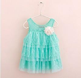 Гаджет  New 2013 infant baby girls lace dresses children clothing for autumn -summer kids princess flower tutu dress Free shipping None Детские товары