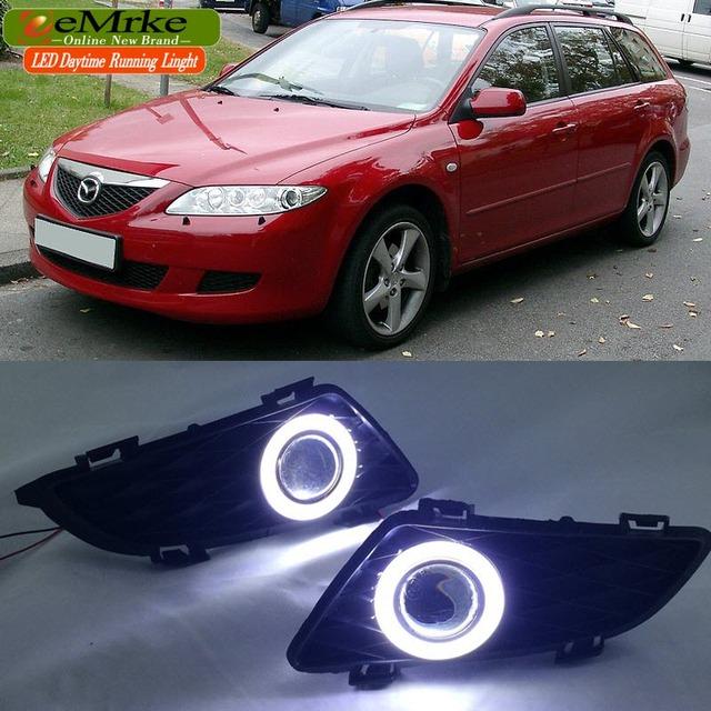 Aliexpress.com : Buy EeMrke LED Angel Eye DRL FOR Mazda 6 2003 2008 Daytime Running Lights H11