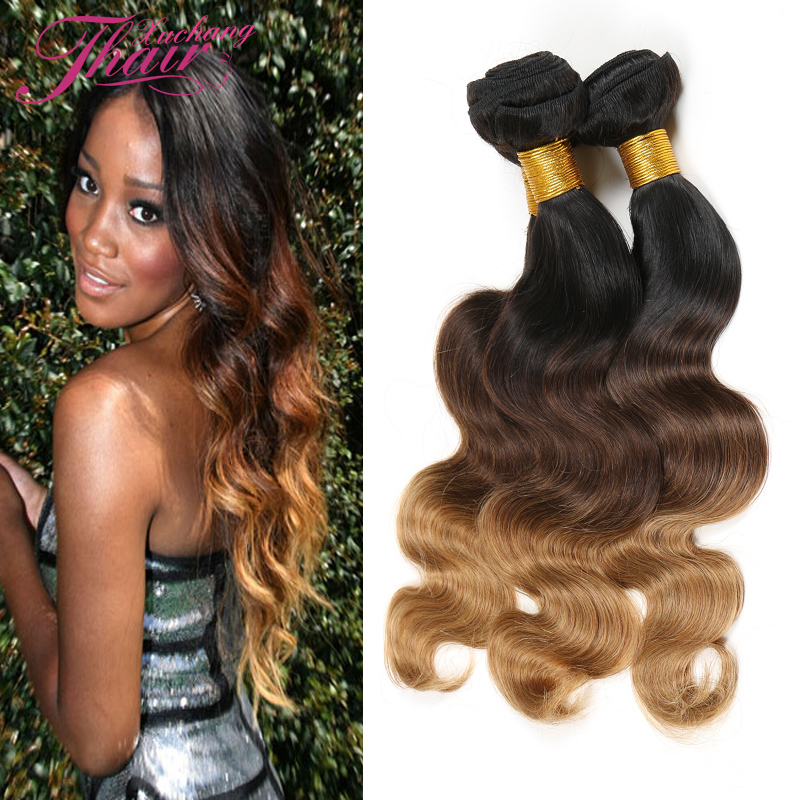Tangled Hair Products 7A Grade Brazilian Virgin Hair Body Wave 3Pcs Lot 100% Brazillian Ombre Human Hair Extensions 12-26 Inch<br><br>Aliexpress