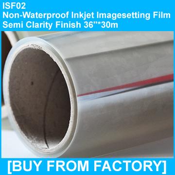 "Non Waterproof Inkjet Film Semi Clarity Finish 36""*30m"