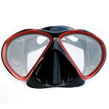 Professional scuba diving mask Black silicone snorkel mask Twin lens tempered glass dive mask Top Adult scuba dive snorkel gear(China (Mainland))