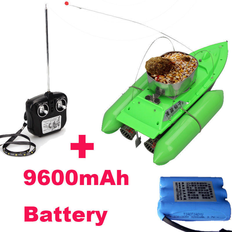 Free Shipping! New T10 Boat Fish Finder Bait lure Boat Fishing RC Anti Grass Wind Remote Control+9600mAh Battery(China (Mainland))