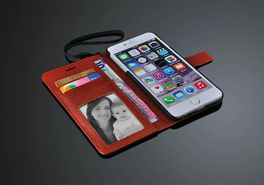 Phone Casing For iPhone 6SPlus Case Stand Flip Cover Wallet Genuine Leather Bags Skin For iPhone 6S Plus Case Red 6 Plus 5.5''(China (Mainland))