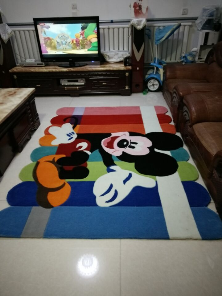 mickey mouse carpet salon tapis alfombras tapis anime. Black Bedroom Furniture Sets. Home Design Ideas
