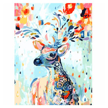 Drawing Home Decor Beautiful Scenery Handpainted Digital Oil Painting Canvas DIY Beginner Level Art Supplies Craft Without Frame(China)