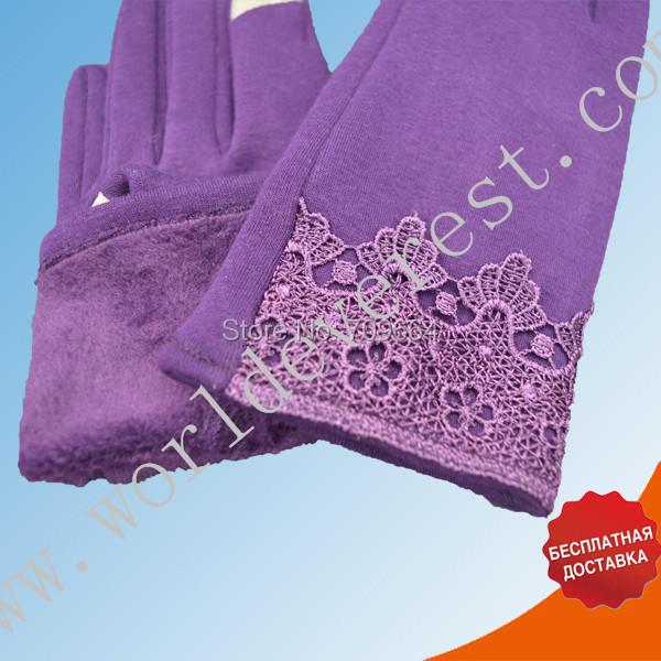 de la cachemira nuevo mujeres de moda caliente guantes del tacto de la