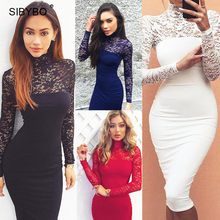 Buy Julissa Mo 2016 Autumn Summer Women Dress Fashion Long Sleeve Vintage Lace Patchwork Sexy Bodycon Bandage Party Club Dresses for $9.89 in AliExpress store