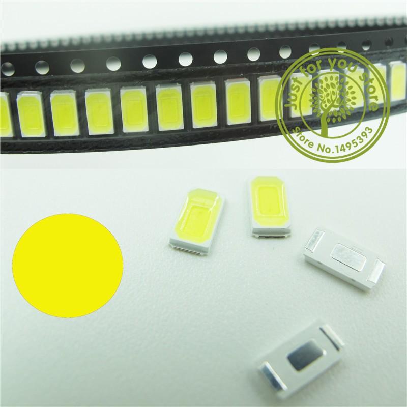 Гаджет  100PCS 5630 SMD 5730  Yellow LED crystal Clear beads 395-400nm Super Bright  Light chip lamps None Электронные компоненты и материалы