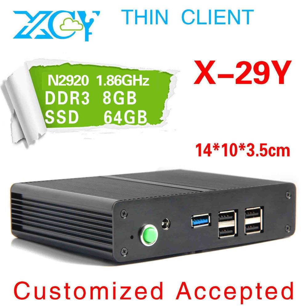 A big promotion!! 1.86GHZ quad core quad thread arm computer XCY X-29Y Support virtualization technology wireless thin client(China (Mainland))