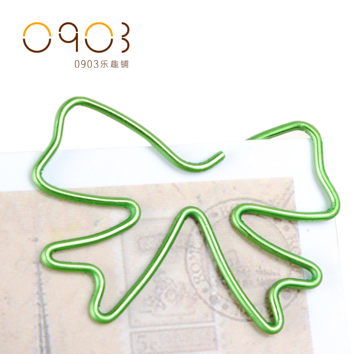 Free shipping Multicolour bow clip supplies staples paper clip bookmark metal boxed book mark green bright wine cute paper clips(China (Mainland))