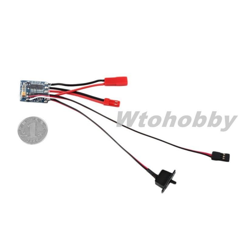 RC Car Accessories 10A Brushed ESC Speed Controller With Brake For 1/16 1/18 1/24 RC Car Boat(China (Mainland))