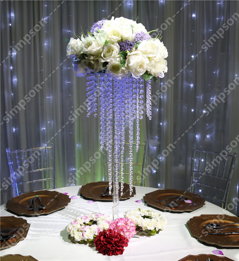 Free shipment pcs lots crystal wedding centerpiece