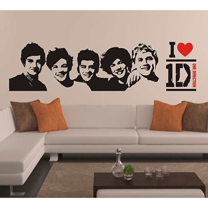 One Direction wall Sticker 1D Poster girls Bedroom Home Decoration Pictures Removable Wall Art wallpaper vinyl decals 0947 - dansy's store