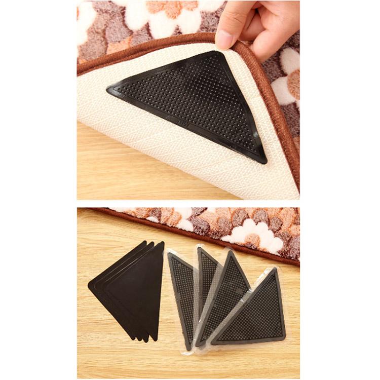 New 4pcs Ruggies Rug Carpet Mat Grippers Non Slip Grip Corners Pad Anti Skid Reusable Silicone Useful WN0188(China (Mainland))