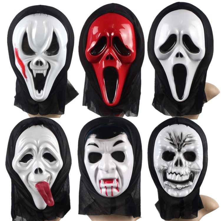 Wholesale Halloween Halloween Mask A Face Mask Of Terror Scary Mask LONG HAIRSTYLES