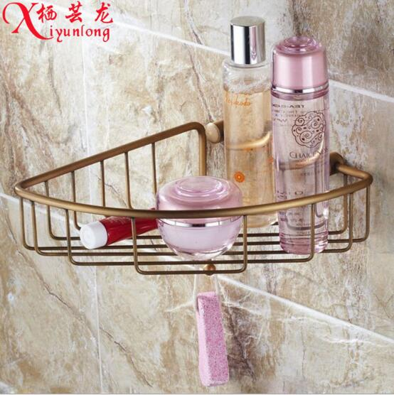 Bathroom Accessories Factory Wholesale Antique Copper Toilet Bathing Tripod Hook Storage Rack
