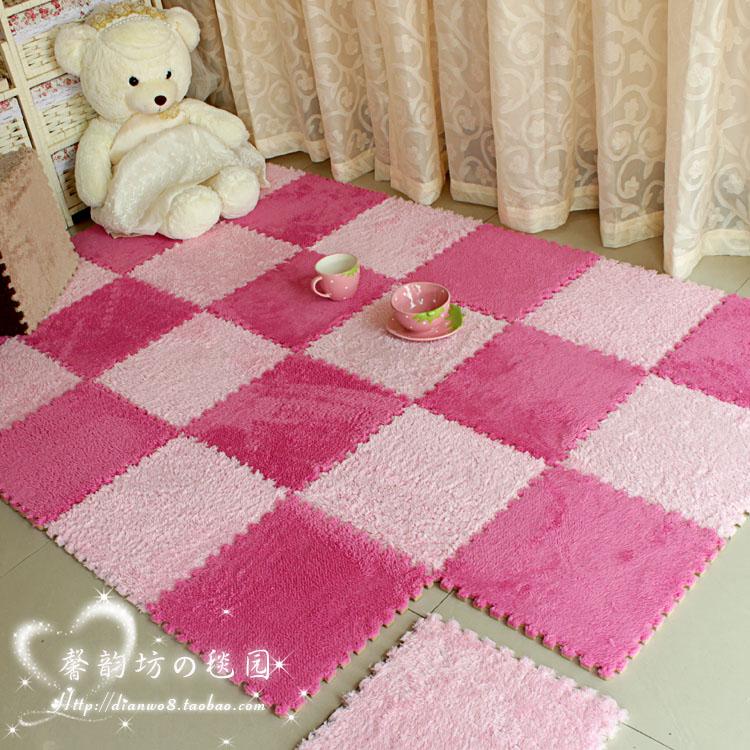 90 90 rosa lavável Super fofo sala quarto cabeceira  ~ Tapete Para Quarto Fofo