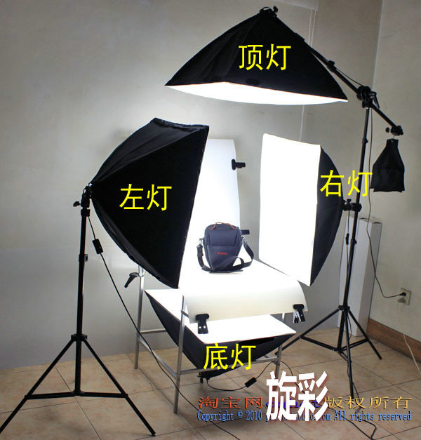 Photo Studio Continuous lighting Kit 60x130cm photographic Shooting Table four 50x70cm softboxe shooting table set CD50 - Adearstudio store