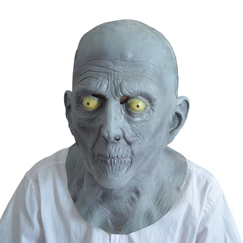 bianco Calvo e faccia vernice da Uomo Halloween Costume Tunica da marrone