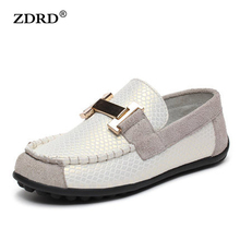 2016 New arrival high quality children boat shoes Genuine Leather children shoes brand designer children Flats Shoes(China (Mainland))