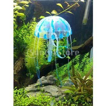 Free Shipping Artificial Jellyfish for Aquarium Fish Tank Ornament - Blue