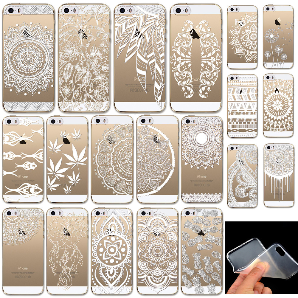Phone Cases for Apple iPhone 5 5S Case Transparent Crystal Case Design TPU Silicon Phone Covers Shell Capa Back Case Top Quality(China (Mainland))