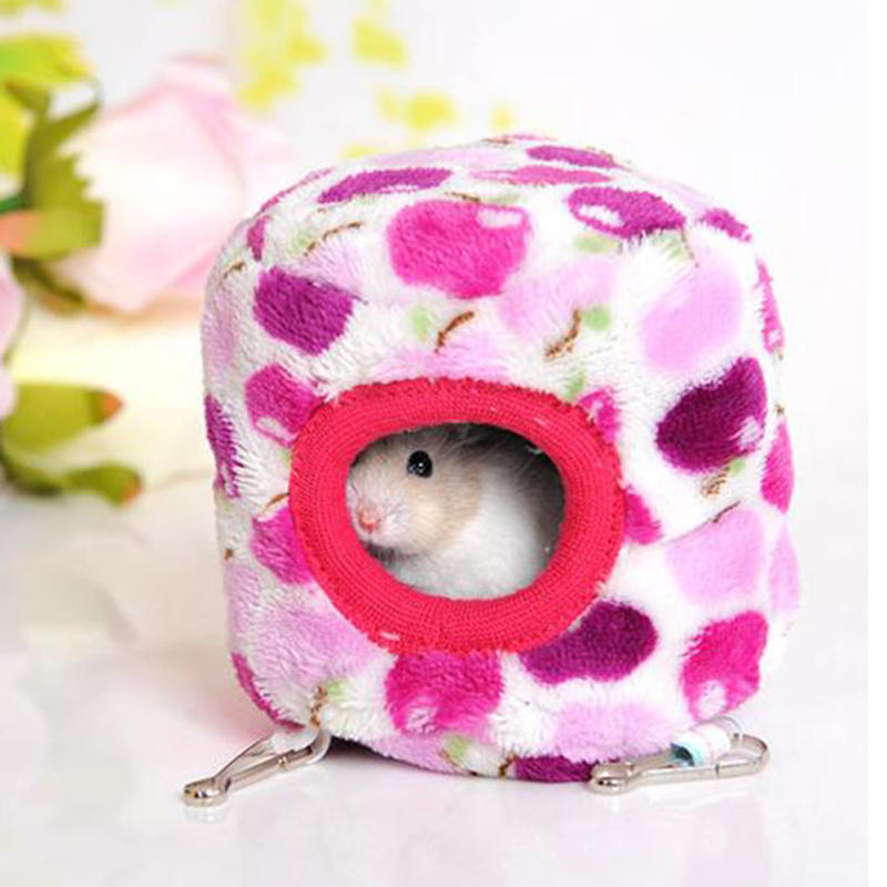 Multi Colors Cute Soft Hammock for Rat Hamster Bird Parrot Ferret Rabbit Squirrel Hanging Bed Toy Cage House 9*10cm(China (Mainland))