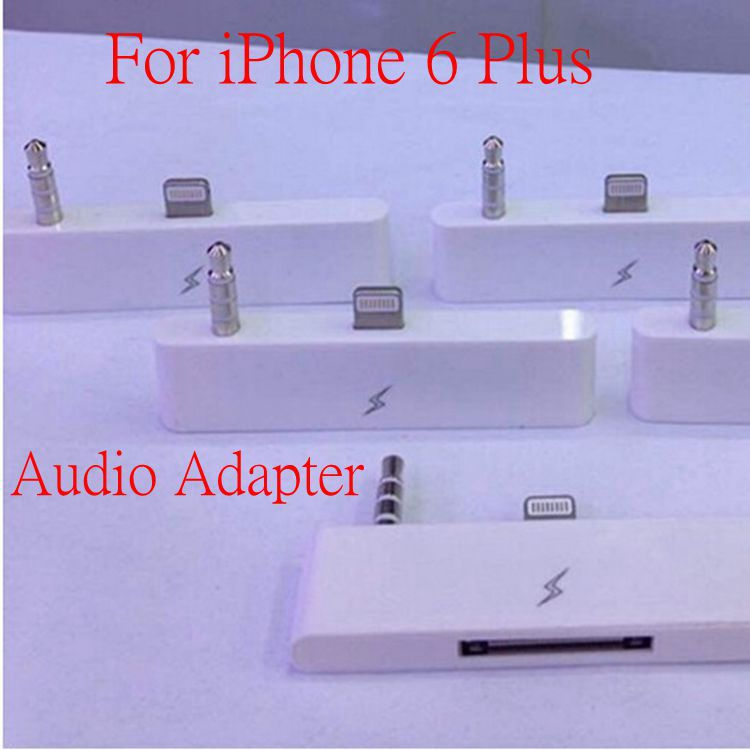 "8 PIN TO 30 PIN Audio Adapter IOS 8 Support Audio Charger Sync Data For IPHONE 6 Pus 5.5 inch 5.5"" i6 Plus 30pin to 8pin 3.5mm"