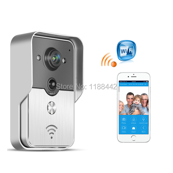 720P HD IP Video door phone Intercom Doorbell Camera Support Wireless Remotely Access by Wifi 4G Network For Samsung Smartphone(China (Mainland))