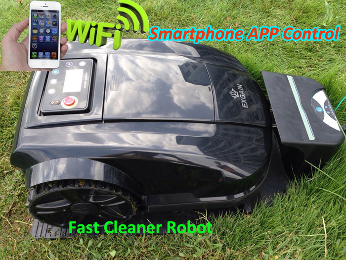 Newest Smartphone WIFI App Control Robot Grass Cutter Lawn Mower Robot S520 Updated with Water-proofed charger(China (Mainland))