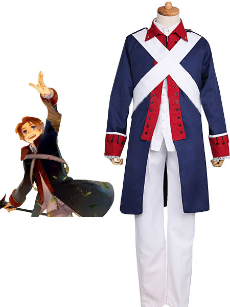 Axis Powers Hetalia America Independence War Uniform Cloth Cosplay Costume