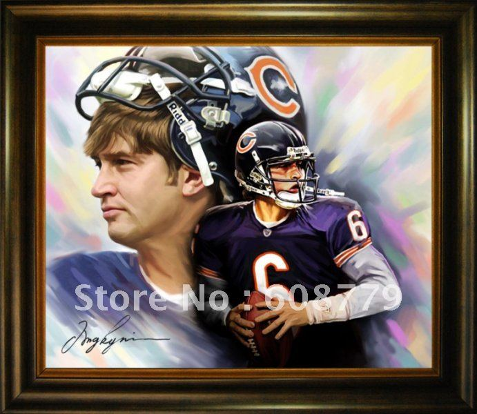 Chicago Bears Cutler Oil Painting(China (Mainland))