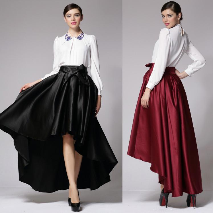 2015 Spring Summer Saias Women UK Plus Size 5XL 6XL High Waist Maxi Long Low Dovetail Skirt Woman Fashion Pleated Skirts - Lynn Zeng's store