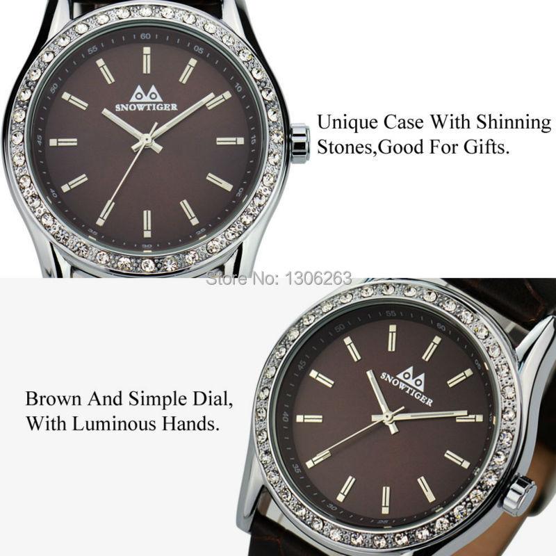 5 Цвет Diamante Наручные Часы Металла Часы Натуральный кожаный ремешок Классический Подруга Подарок Дизайнер Леди Девушка Кожа Часы