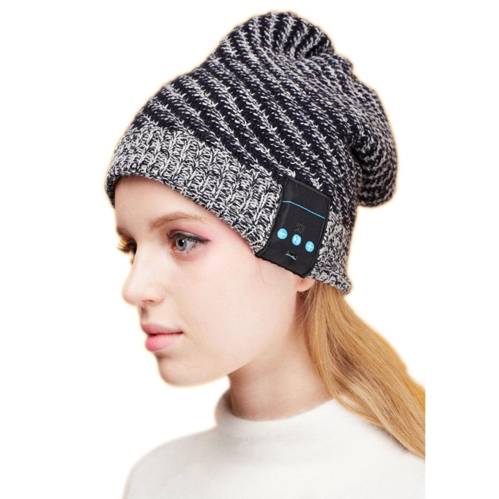 New Unisex Ski Beanie Sports Hat Wireless Bluetooth Smart Cap Headphone Headset Speaker Mic Headset Free Shipping(China (Mainland))
