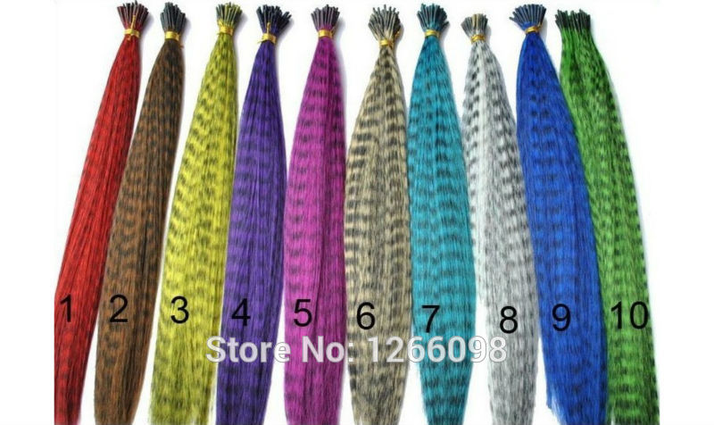 36pcs 12 clors Colorful Grizzly & Solid Colors Feather Hair Extensions Big discount With Beads,Hook and Pliers tool(China (Mainland))