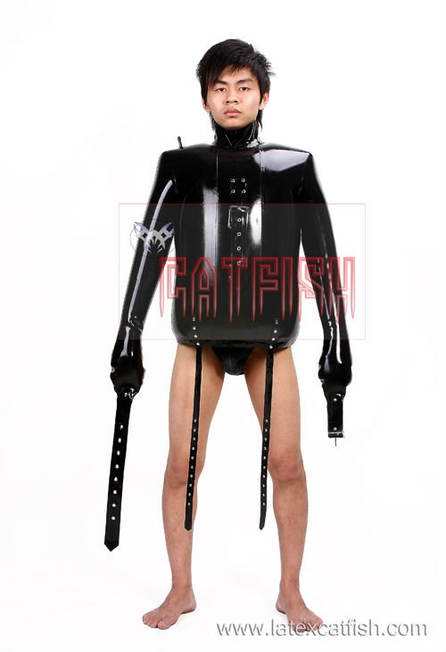 Heavey Bondage Rubber Straight Jacket-in Clothing from Novelty