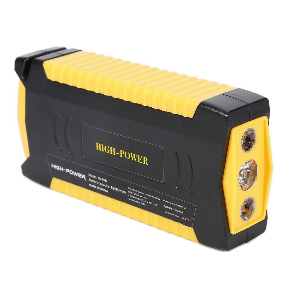 Newest 12V 69800mah Car Jump Starter Engine Booster Car Emergency Jump Starter Car Power Bank Charger For Mobile Phones Laptops
