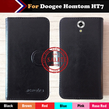 Super!! Doogee Homtom HT7 Case 6 Colors Leather Crazy Horse Exclusive For Doogee Homtom HT7 Special Cover Phone +Tracking
